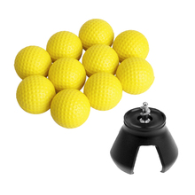 10pcs Golf Ball + 3 Prongs Attachable Claw Pick Up Tool W/ Screw Putter Grip