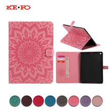 Case For Apple New ipad 9.7 2017 2018 Cases Cover A1822 A1893 9.7inch Funda Tablet Sun Embossed PU Leather Skin Shell bag