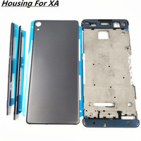 Full Housing Middle Front Frame Bezel Housing For Sony Xperia XA F3111 F3112 F3115+Side Rail Stripe With Side Buttons+Logo