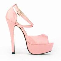 Plus BIG SIZE 34 42 Ultra High Heel 14cm Woman Wedges Sandals Womens 13 Colors Shoes