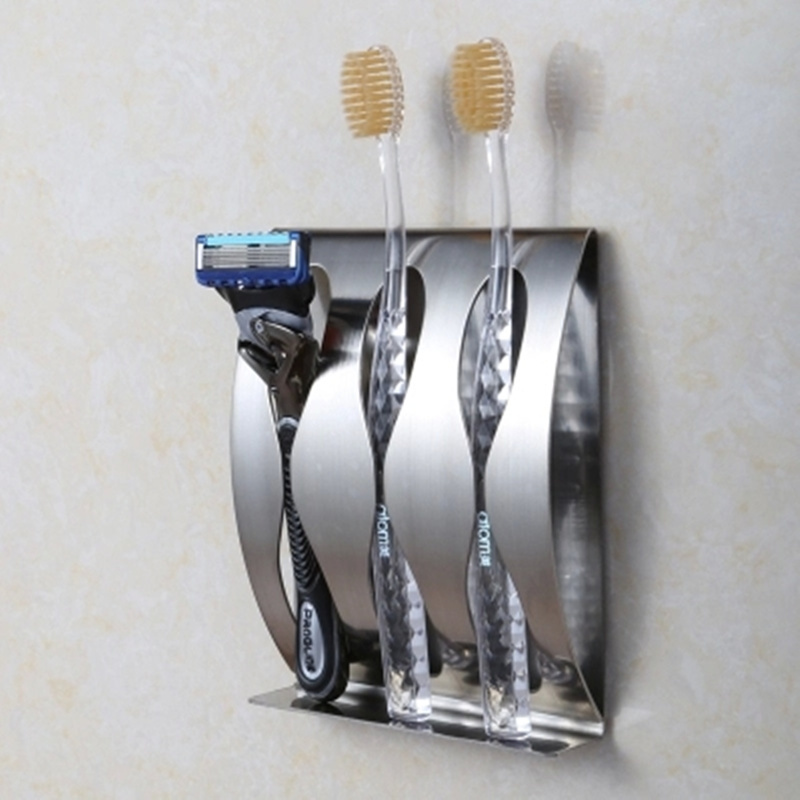 Bathroom Accessories Position stainless steel wall mount toothbrush holder 3 position self