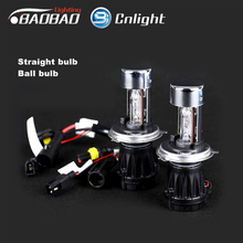 цена на H4 hi/low bi-xenon hid xenon hid bulb cnlight brand ball bulb and strict bulb with high low beam h4-3 relay harness 4300k 6000k