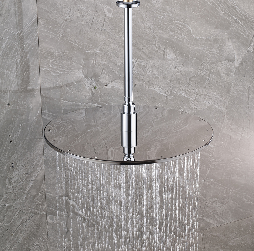 Luxury LED Colog Changing 16 Inch Big Rain Shower Head Ceiling Mounted  Brass Shower Arm 40cm Round Showerhead In Shower Heads From Home  Improvement On ...