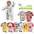 24 colors new fashion kids cartoon cow roupas de bebes roupas meninos newborn baby clothing baby girls/boys clothes baby rompers