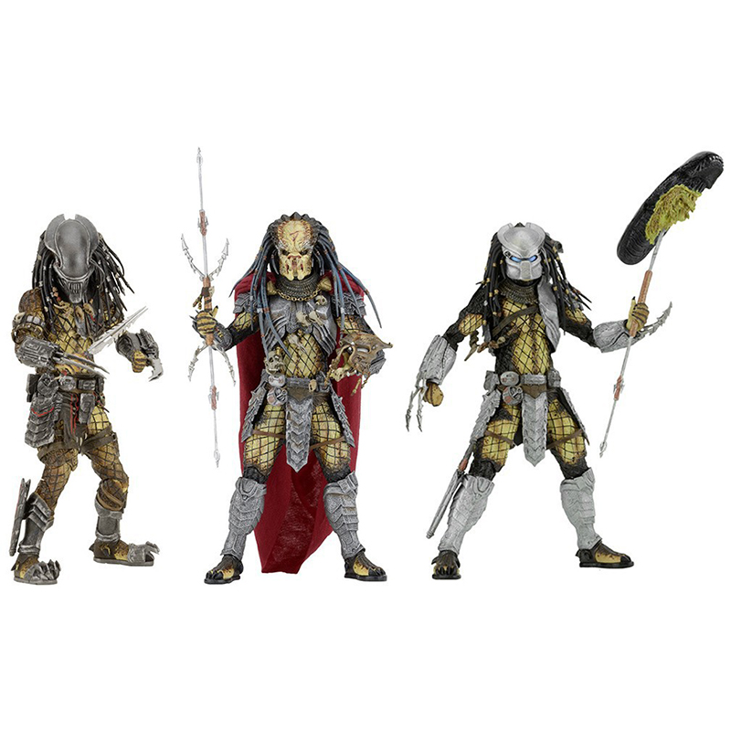 NECA AVP Aliens vs. Predator Series Young Blood / Elder Predator Serpent Hunter Action Figure Toy 20cm free shipping neca p1 7 soldier set classic predator 21cm alien hunter primevil avp