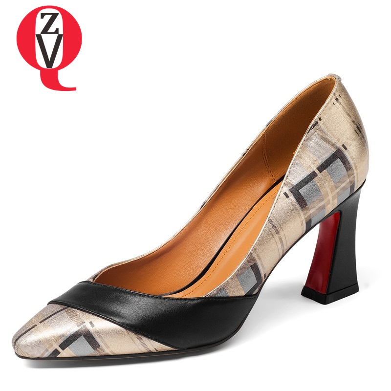 ZVQ mixed colors fair maiden high heels breathable engagement pumps woman pointed toe comfortable spring shoes plus size