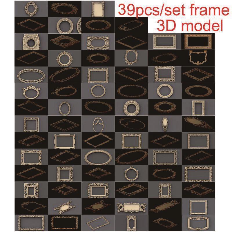 39pcs/set Frame 3d Model STL Relief For Cnc STL Format 3d Model For Cnc Stl Relief Artcam Vectric Aspire