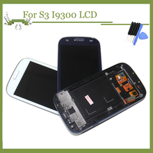 100% Test AMOLED LCD Replacement For Samsung Galaxy SIII S3 i9300 LCD Display Touch Screen Digitizer Assembly