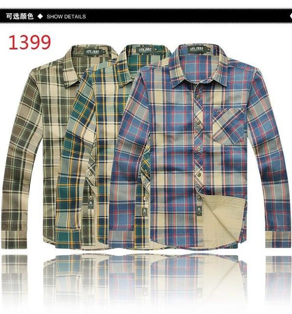 ¡ Caliente! más el tamaño m-5xl 6xl (busto 138 cm) 2015 primavera yardas grandes de manga larga camisa a cuadros camisa de algodón 3 colores clásicos de la moda de los hombres