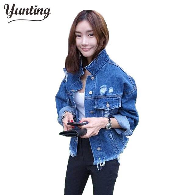 8d7f15e2aff 2019 Spring Jeans Jacket Women top fashion retro finishing Boyfriend Style  big Coat jaqueta feminina oversized denim jacket