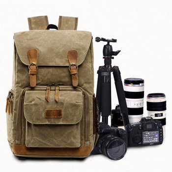 Camera Bag Backpack Waterproof Photography Outdoor Water Resistant Canvas Bag for Camera Storage Photography Outdoor