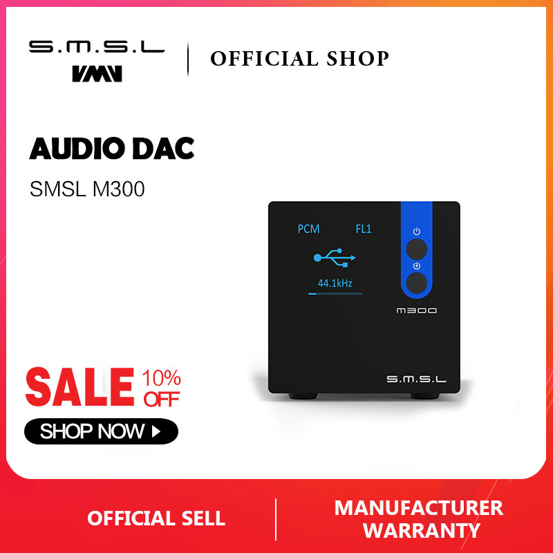 SMSL M300 Audio DAC AK4497 Hifi Decoder Native DSD512 PCM768kHz USB Optical Coaxial Input Balanced Line Output Black Blue Red -in Digital-to-Analog Converter from Consumer Electronics