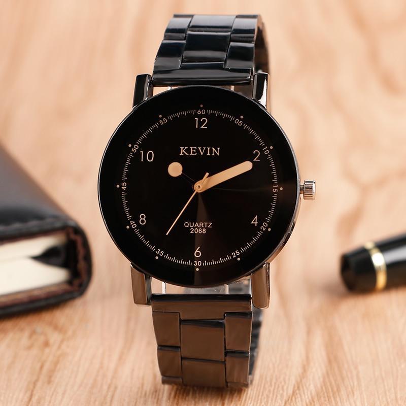 4cfd8f5d1c Kevin hombres moda deportiva cuarzo caliente diseño especial mujeres damas  de moda Reloj clásico simple casual banda de acero inoxidable