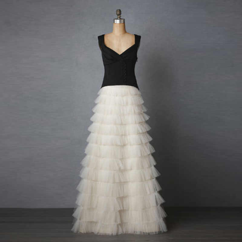 ceee3069a4abf 2017 Fashion Ruffles Cake Layers Long Skirts Boutique Tiered Tulle Skirt  Womens Maxi Saias Jupe Bridal Skirt Prom Party Gowns