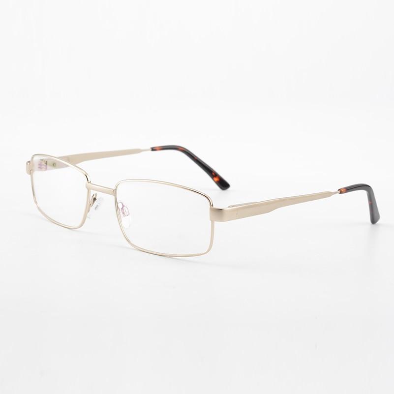 Kirka Metal Reading Glasses Men Business Casual Eyeglasses Golden Full Rim Noble Frame Reader Eyewear High Quality