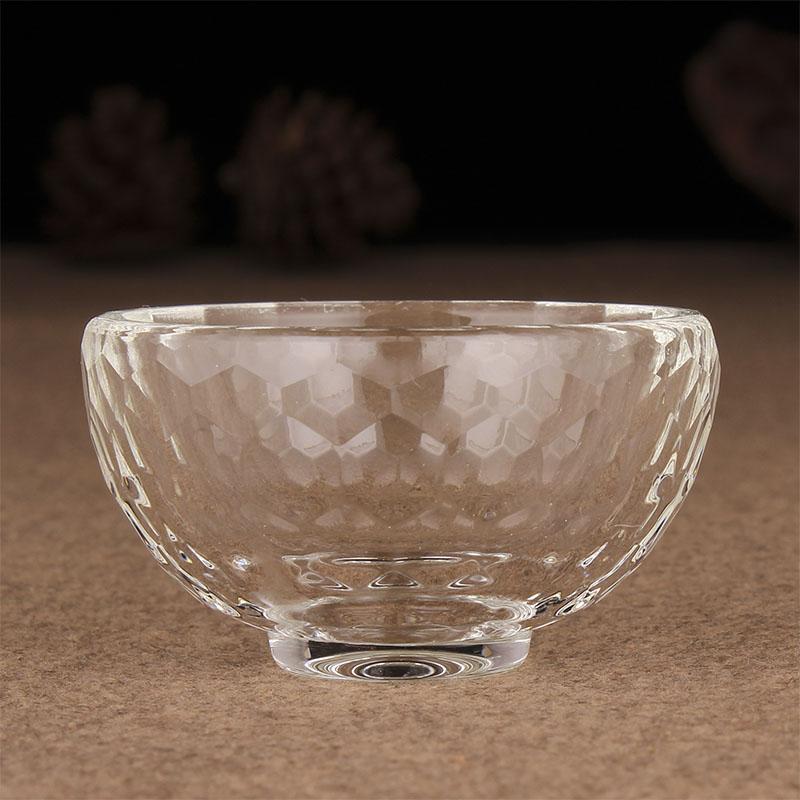 Klar Kristall Glas Schüssel Heiligen Wasser Tasse Religiöse Buddha Versorgung Kirche Tempel Dekoration
