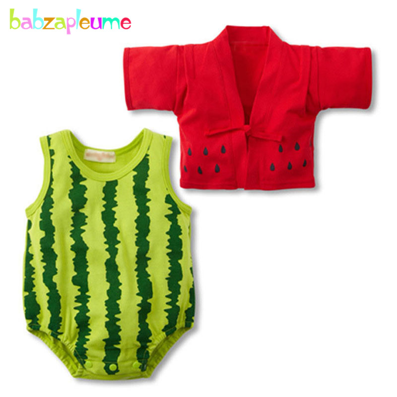 babzapleume Spring summer newborn bodysuit baby girls clothes 100% cotton cartoon cute coats+rompers infant clothing sets BC1472