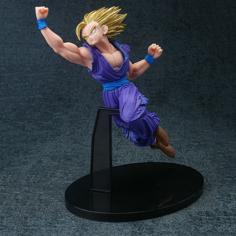 16CM PVC Dragon Ball Z Action Figures Goku Figure with Shoryuken Toys For Children Gifts Collections Displays