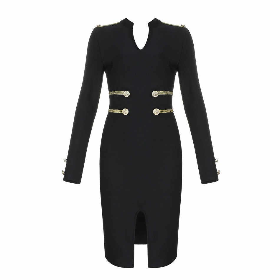 Seamyla 2019 Новое весеннее женское платье Элегантное с длинным рукавом, в стиле Звезд вечерние платья пикантный облегающий мини-Клубное платье Vestidos