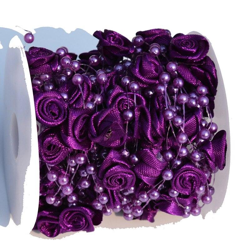30 Mètres Ligne De Pêche artificielle Perles Chaîne Perles Chaîne Guirlande Fleurs Fête