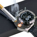 2 In 1 Rechargeable Watch Lighter Electronic Cigarette Lighter USB Charge Flameless Cigar Wrist Watches Lighter Business Gifts