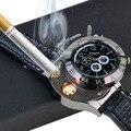 2 en 1 recargable reloj más ligero cigarrillo electrónico de carga USB sin llama cigarro relojes de pulsera más ligeros regalos de empresa