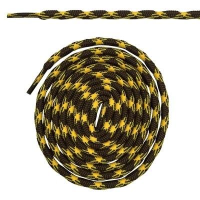 Нескользящие круглые шнурки для альпинизма разные цвета 120 см/47 дюймов - Цвет: Brown and yellow