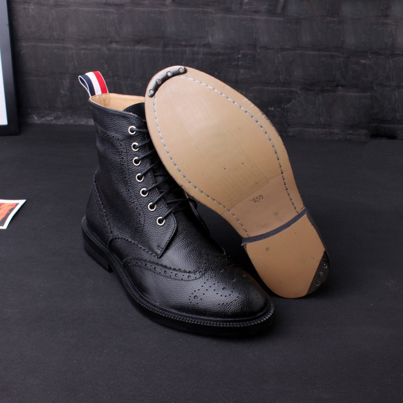 abe17197de5 thom browne latest European fashion Carved men short boots-in Mid-Calf Boots  from Shoes on Aliexpress.com
