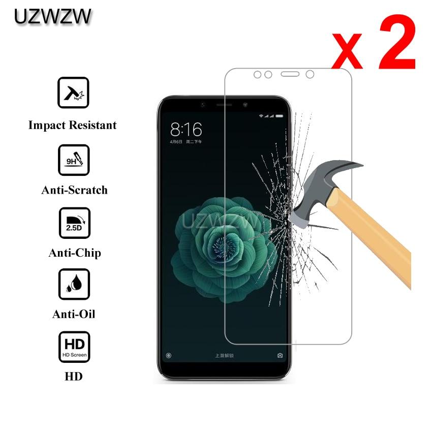 2pcs For Xiaomi Mi 6X Mi A2 Premium 2.5D 0.26mm Tempered Glass Screen Protector For Xiaomi A2 Mi 6X Protective Glass