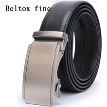 Ratchet Click Belts for Men - Mens Comfort Genuine Leather Dress Belt Automatic Buckle Classic Big and Tall Designer