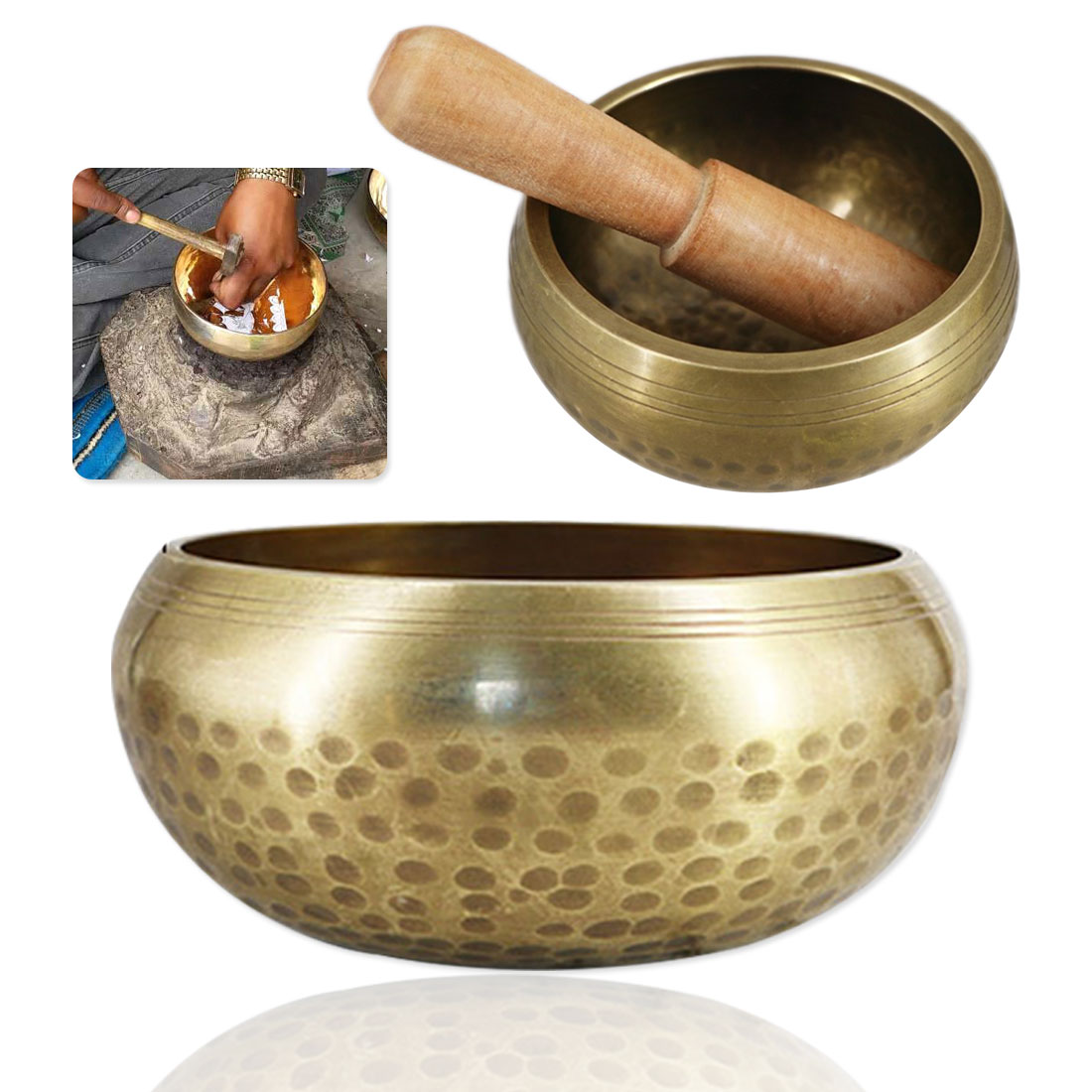 Tibetan Bowl Copper Buddhism Singing Bowls Handmade Decorative-wall-dishes For Meditation Yoga Buddhism Gifts Home Decor Crafts