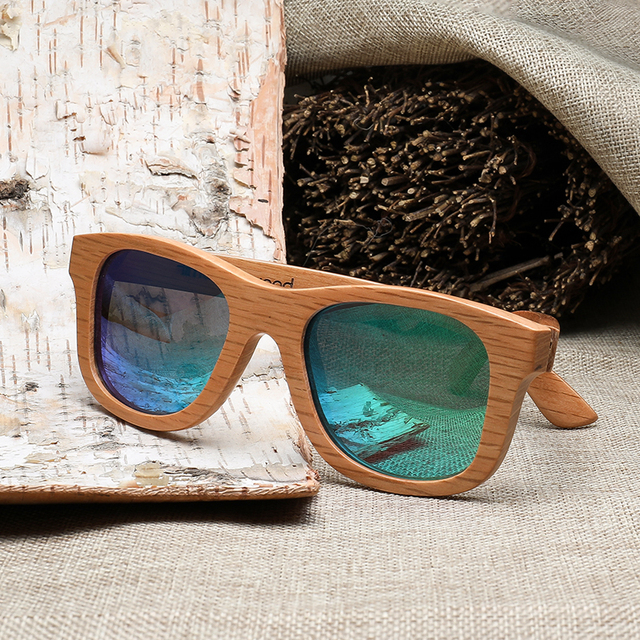 Eco Couture Handmade Polarized Bamboo Sunglasses
