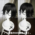 Code Geass Anime Figures Lelouch Vi Britannia Black Short Straight Hair Wig High Quality Cosplay Costume Wigs + Black Glasses