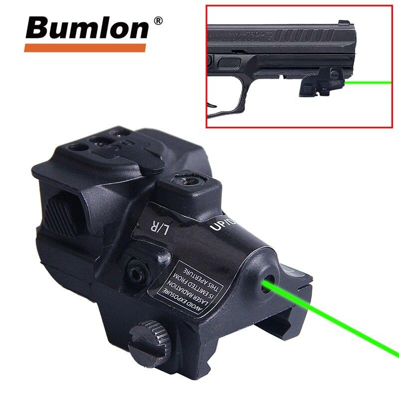 Universel Point Laser Vert Ajustable Lunettes Pistolet Laser Pour Glock Pistolet Fusil De Chasse Optique 3-0034