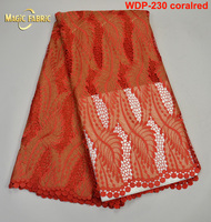 Latest African Lace Cord Lace Fabric Cheongsam Dress Clothes Soft Guipure Lace French Lace WDP