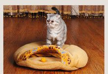 Round Kennel Cave Pet Bed pet Products Warm Soft Cat bed House Pet Sleeping Bag Lovely cat bed hamburger Size S/M