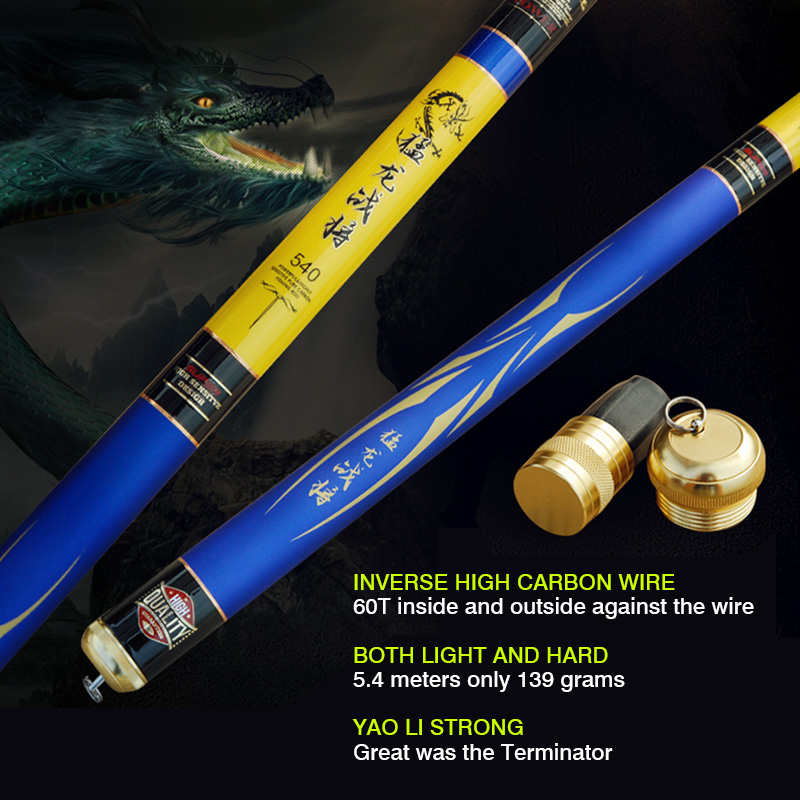 Buy High carbon ultralight fishing rod superhard 28 tune 4.5 m 5.4 m hand pole fishing rod fishing gear for $196.00 in AliExpress store