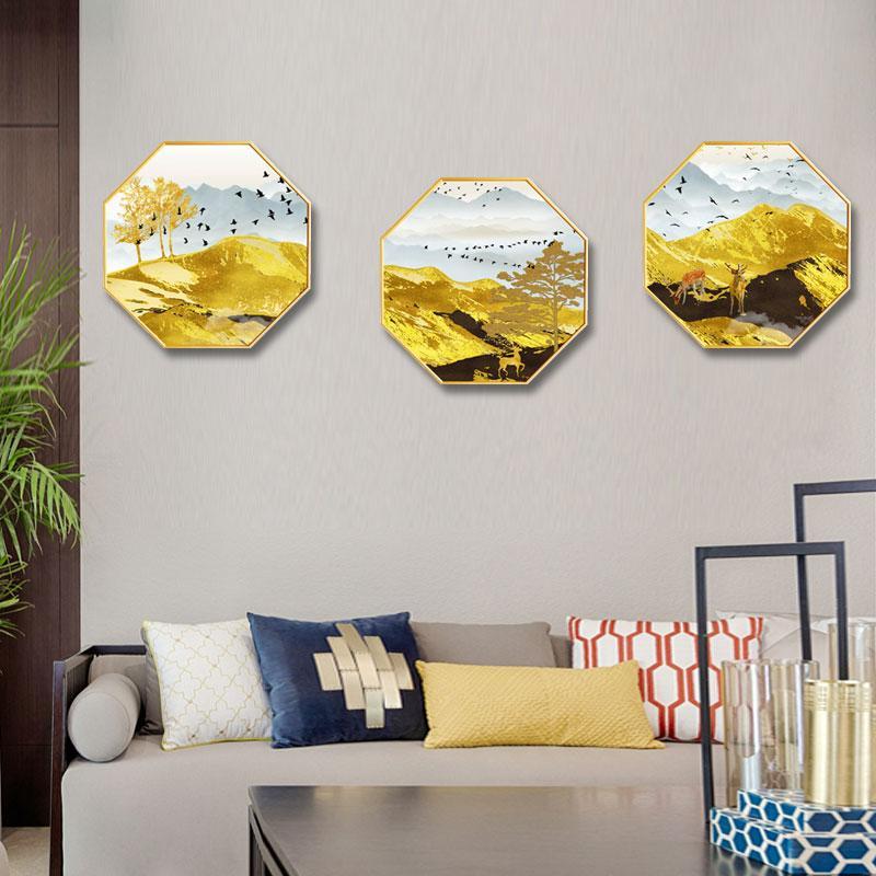 Creative octagonal home decorative painting Abstract zen bedroom restaurant corridor mural Hotel