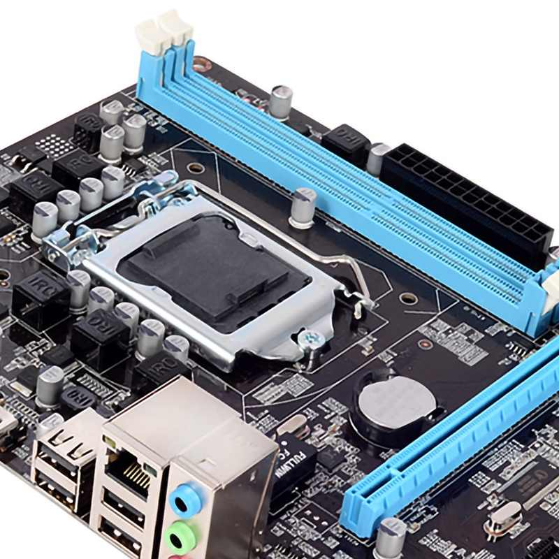 H55 Motherboard Baru Lga1156 Ddr3 Mendukung I3 I5 I7 CPU Papan Utama PCI-Express Port USB Mainboard Main Board untuk komputer