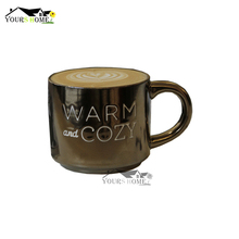 400ml Nordic Style Simple English Letter Ceramic Retro Gold Letters Coffee Cups Milk Tea Mug Beer Bar Mugs
