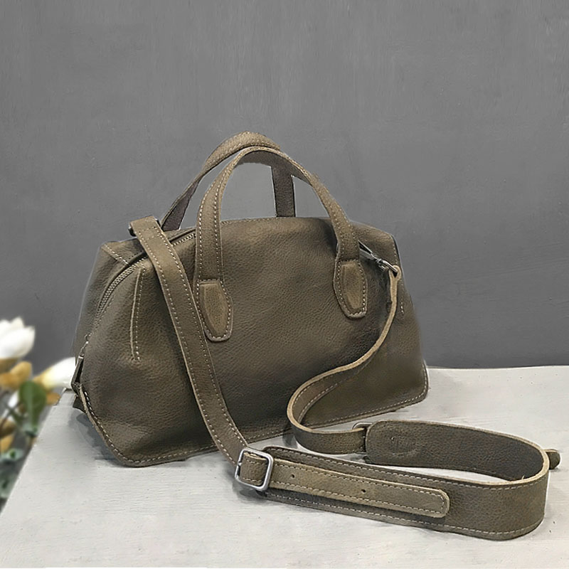 Vendange натуральная кожа сумка ретро досуг литература сумка 2453