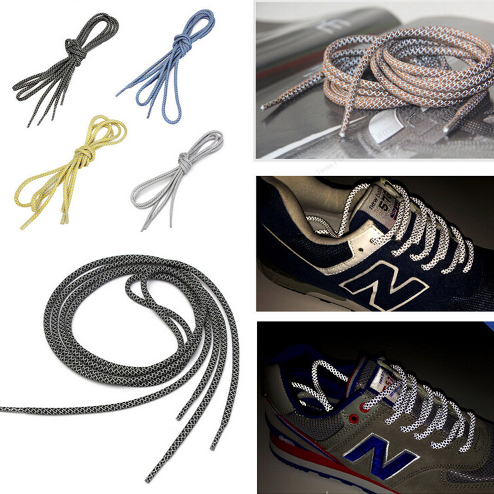 70-120cm 1Pairs//set Outdoor Sport Round  Sneaker Shoelaces Boot Shoe Lace BH