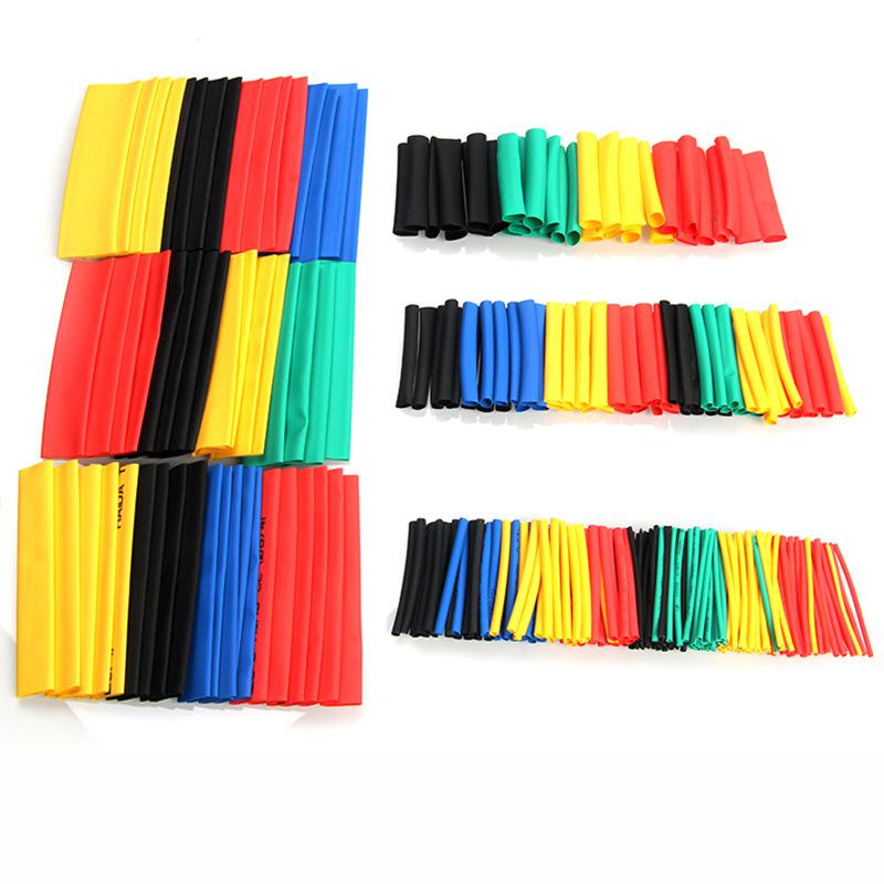 328pcs 8 Size Polyolefin Heat-shrink Tubing Kit High Temperature Electrical Insulating Shrink Tube Assortment sleeve cable
