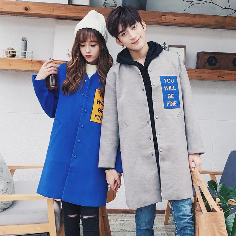 18 Herbst Und Winter Neue Jugend Mode Liebhaber Druck Lose Lange-ärmel Koreanische Version Der Trend Der Alle Zusammen Windjacke Kann Wiederholt Umgeformt Werden.