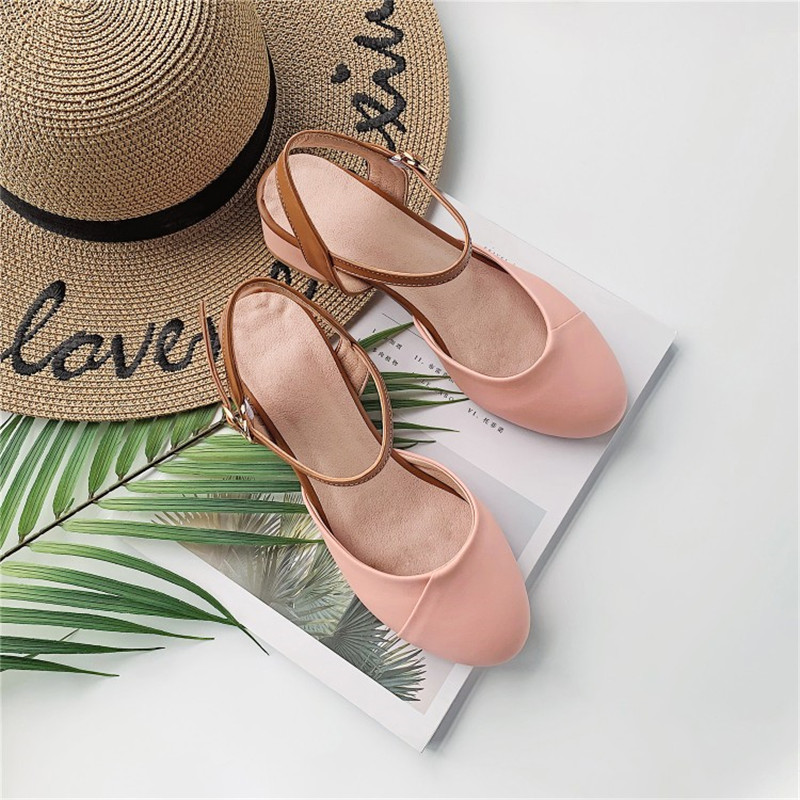 2019 Baotou Sandals Womens Summer New Pu Retro Round Head with Mary Jane Womens Shoes2019 Baotou Sandals Womens Summer New Pu Retro Round Head with Mary Jane Womens Shoes