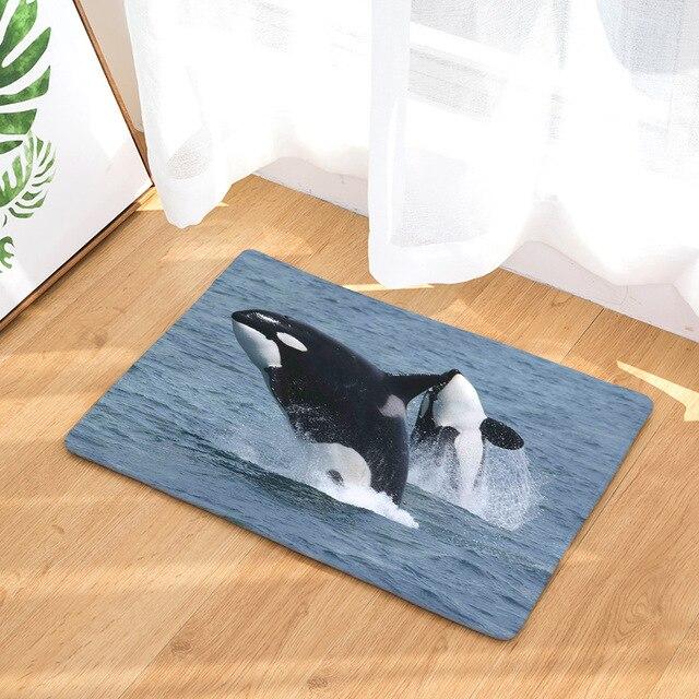 Whale Print Anti-Slip Rug 6