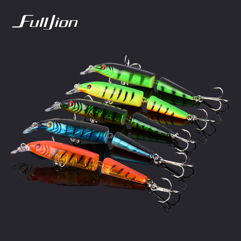 1pcs Fishing Lures Minnow Laser Hooks Wobbler Fishing Tackle Crankbait Artificial Hard Baits Pesca 2 Sections 10.5cm 9.6g wldslure 1pc 54g minnow sea fishing crankbait bass hard bait tuna lures wobbler trolling lure treble hook