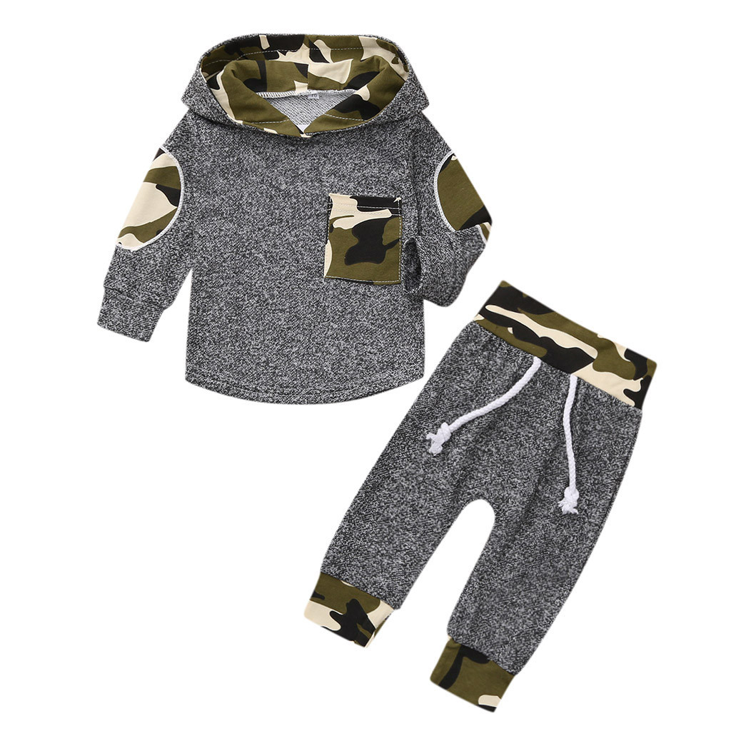 Infant Baby Jungen Mädchen Kleidung Print Hoodies Tops Hosen Leggings