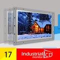 """17 """"Open Frame Промышленных ЖК-Резистивный Сенсорный Монитор С HDMI Интерфейс/Белый Металл TFT Монитор Для Продажи"""