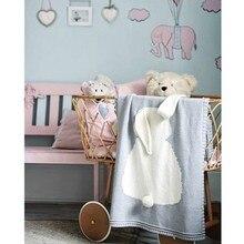 Ins 2017 Spring Autumn Newborn Designer Super Cute Cotton Knitted Blanket Baby Swaddle Sleeping Fleece Blanket
